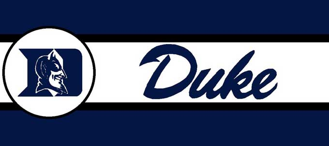 "Duke Blue Devils 7"" Tall Wallpaper Border"