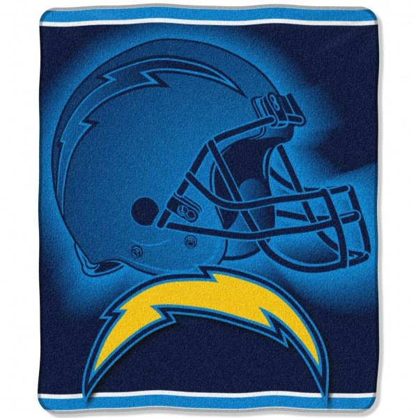 "San Diego Chargers Blanket: San Diego Chargers NFL ""Tonal"" 50"" X 60"" Super Plush Throw"