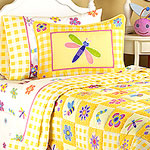 Flowerland Twin Comforter / Sheet Set