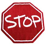 "Stop Sign Rug (39"" x 39"")"