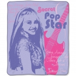 "Hannah Montana Teen Idol Entertainment 50"" x 60"" Micro Raschel Throw"
