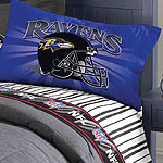 Baltimore Ravens Full Size Pinstripe Sheet Set