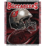 "Tampa Bay Buccaneers NFL ""Spiral"" 48"" x 60"" Triple Woven Jacquard Throw"