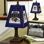 Baltimore Ravens NFL Art Glass Table Lamp