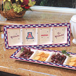 Arizona Wildcats NCAA College Gameday Ceramic Relish Tray