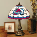 Colorado Avalanche NHL Stained Glass Tiffany Table Lamp