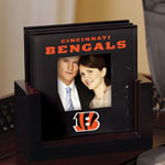 Cincinnati Bengals NFL Art Glass Photo Frame Coaster Set