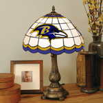 Baltimore Ravens NFL Stained Glass Tiffany Table Lamp