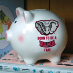 Alabama Crimson Tide NCAA College Ceramic Piggy Bank