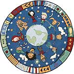"Small World Hooked Rug (39"" Round)"