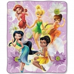 "Fairies Sparkly Friends Entertainment 50"" x 60"" Micro Raschel Throw"