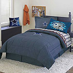 Dallas Cowboys NFL Team Denim Twin Comforter / Sheet Set