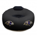 Baltimore Ravens NFL Vinyl Inflatable Chair w/ faux suede cushions