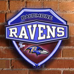 Baltimore Ravens NFL Neon Shield Wall Lamp
