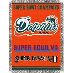 "Miami Dolphins NFL ""Commemorative"" 48"" x 60"" Tapestry Throw"