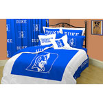 Duke Blue Devils 100% Cotton Sateen Queen Comforter Set