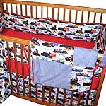 Classic Trains Four Piece Crib Set