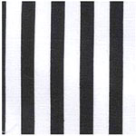 All Star Sports World Cup  Fabric by the Yard - Black and White Referee Stripe