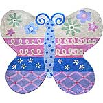 "Groovy Butterfly Rug (3'2"" x 3'9"")"