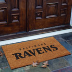 Baltimore Ravens NFL Rectangular Outdoor Flocked Door Mat