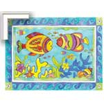 Zippy Fish - Contemporary mount print with beveled edge
