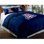 "Arizona Wildcats College Twin Chenille Embroidered Comforter Set with 2 Shams 64"" x 86"""