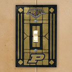 Purdue Boilermakers NCAA College Art Glass Single Light Switch Plate Cover