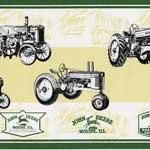 john deere new antique tractor wallpaper border