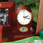 Green Bay Packers NFL Brown Desk Clock