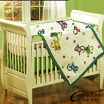 Monkey See Monkey Do 4 Piece Crib Quilt Set