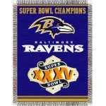 "Baltimore Ravens NFL ""Commemorative"" 48"" x 60"" Tapestry Throw"