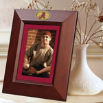 "Alabama Crimson Tide NCAA College 10"" x 8"" Brown Vertical Picture Frame"