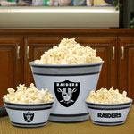 Oakland Raiders NFL Melamine 3 Bowl Serving Set