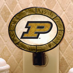 Purdue Boilermakers NCAA College Art Glass Nightlight