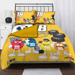 "Kyle Busch 18 NASCAR Twin Comforter Set with 2 Shams 63"" x 86"""