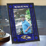 "Baltimore Ravens NFL 9"" x 6.5"" Vertical Art-Glass Frame"