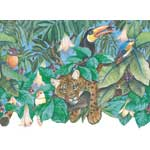 Tiger and Toucans Wallpaper Border