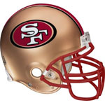San Francisco 49ers Helmet Fathead NFL Wall Graphic