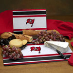Tampa Bay Buccaneers NFL Glass Cutting Board Set