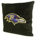 "Baltimore Ravens NFL 16"" Embroidered Plush Pillow with Applique"