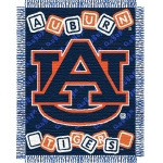 "Auburn Tigers NCAA College Baby 36"" x 46"" Triple Woven Jacquard Throw"