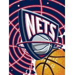"New Jersey Nets NBA ""Tie Dye"" 60"" x 80"" Super Plush Throw"