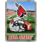 "Ball State Cardinals NCAA College ""Home Field Advantage"" 48""x 60"" Tapestry Throw"