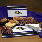 Baltimore Ravens NFL Glass Cutting Board Set