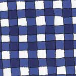 Mack Gathered Bed Skirt - Blue Check