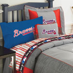 Atlanta Braves FULL Size Pinstripe Sheets Set