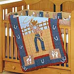 Cowpoke 4 Piece Crib Set