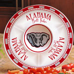 "Alabama Crimson Tide NCAA College 14"" Ceramic Chip and Dip Tray"