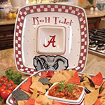 "Alabama Crimson Tide NCAA College 14"" Gameday Ceramic Chip and Dip Tray"