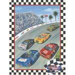 Going 3 Wide on Lap 75 - Framed Print